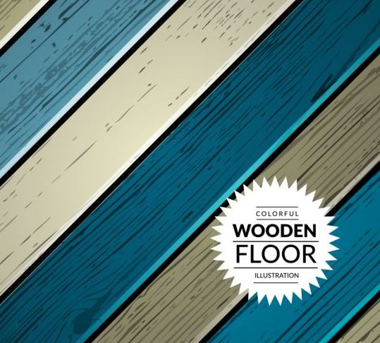 Colorful wooden floor background vector illustration 06