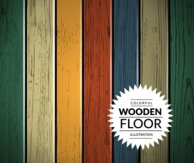 Colorful wooden floor background vector illustration 07