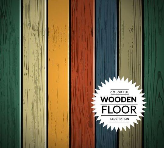 Colorful wooden floor background vector illustration 07