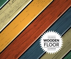 Colorful wooden floor background vector illustration 08