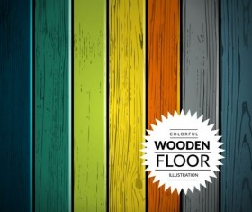 Colorful wooden floor background vector illustration 09