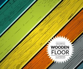 Colorful wooden floor background vector illustration 10