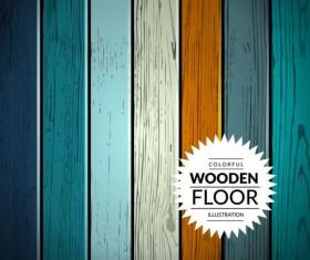 Colorful wooden floor background vector illustration 11