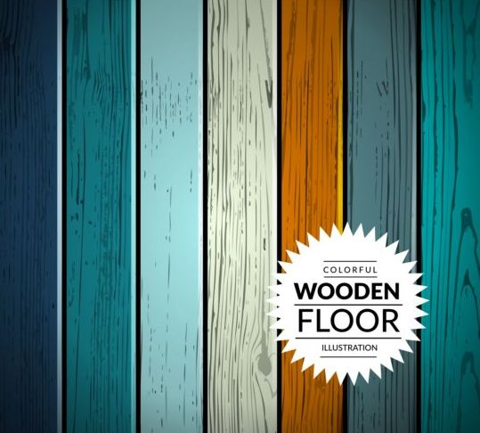 Colorful wooden floor background vector illustration 11