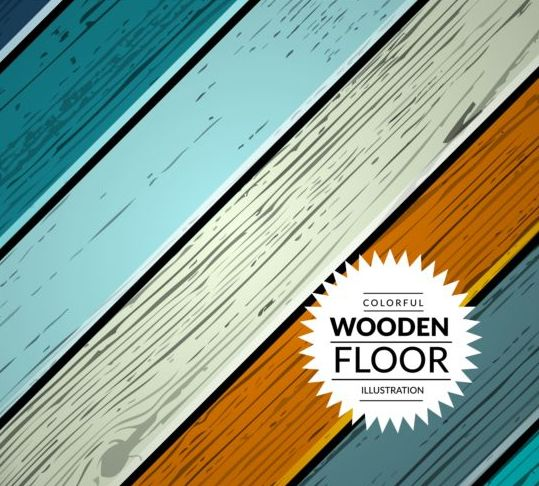 Colorful wooden floor background vector illustration 12