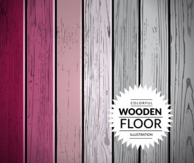 Colorful wooden floor background vector illustration 13