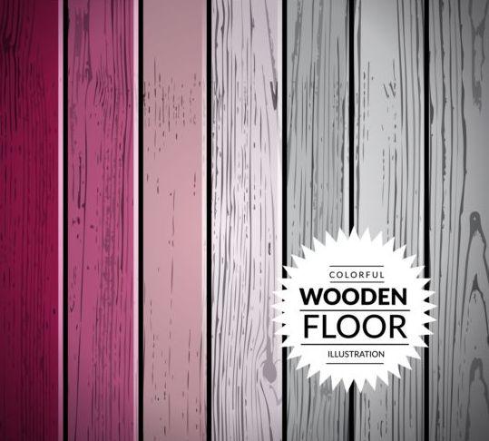 Colorful wooden floor background vector illustration 13