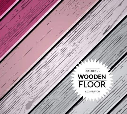 Colorful wooden floor background vector illustration 14