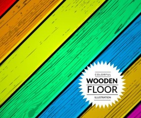 Colorful wooden floor background vector illustration 15