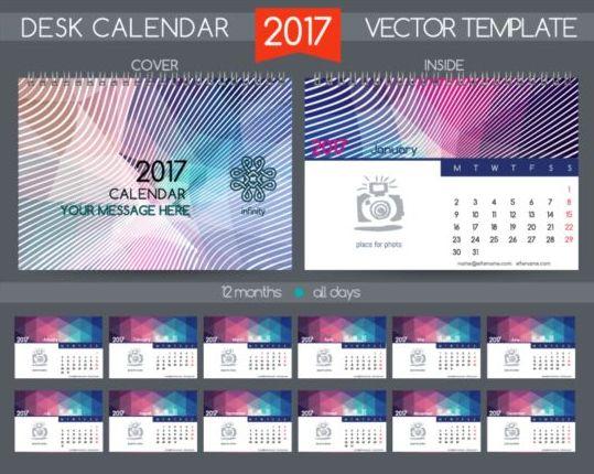 Corporate Calendar Design Templates : Company desk calendar design vector template