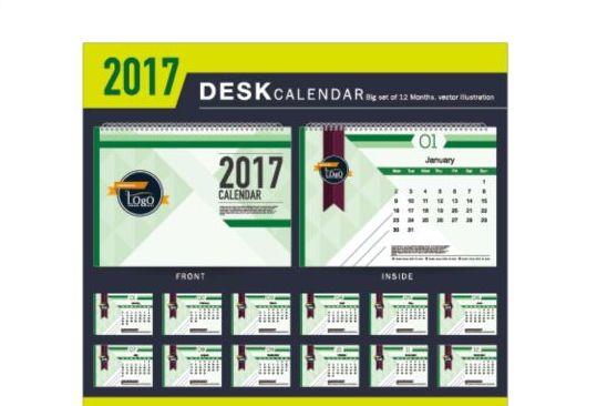 Company 2017 Desk Calendar Design Vector Template 08 Free Download