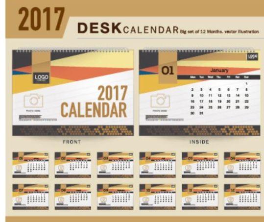 Calendar Design For Company : Company desk calendar design vector template