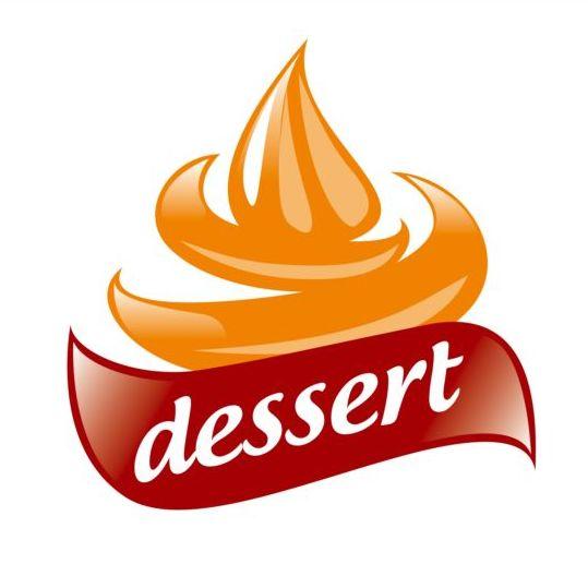 Cream for dessert vector logo