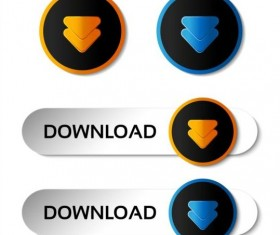 Creative arrow button vector set 02