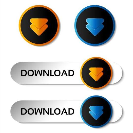 Creative arrow button vector set 02