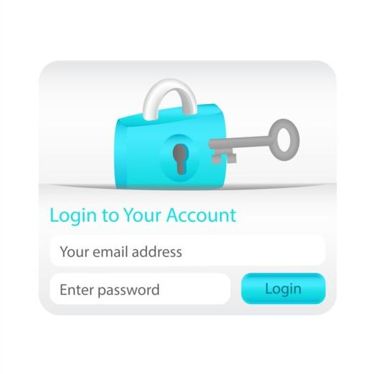 Creative login interface vector material
