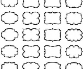 Cute black frames set vector