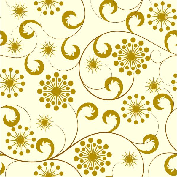 Elegant floral design vector pattern 06