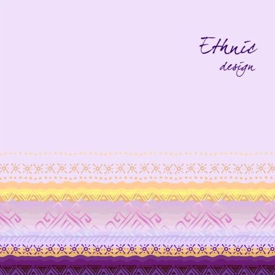 Ethnic ornamental hand drawn background vector 09