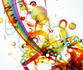Fashion colorful grunge background vector 01