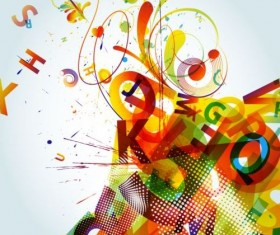 Fashion colorful grunge background vector 02