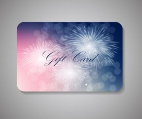 Fireworks with colored gift card vector
