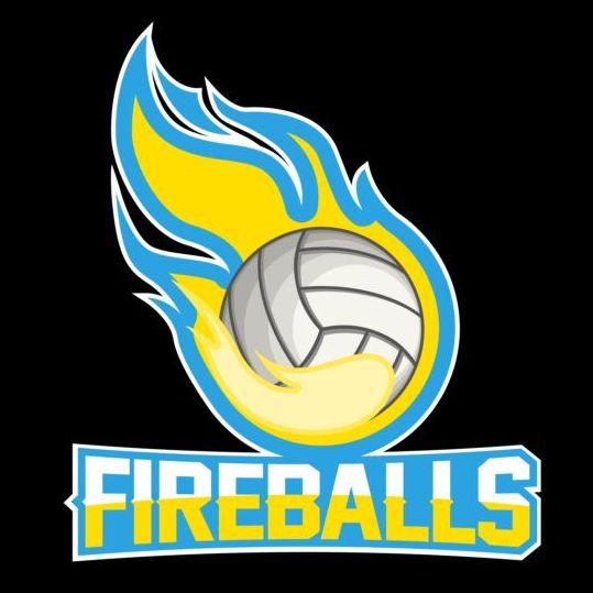 Flame With Volleyball Logos Vector Vector Logo Free Download