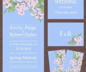 Flower vintage wedding card vector