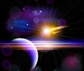 Fly comet vector background