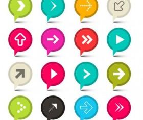 GPS arrow icons vector