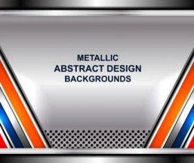 Geometric steel background art vector