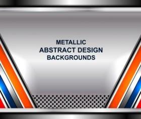 Geometric steel background art vector