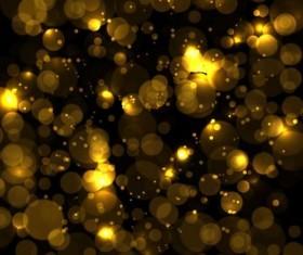 Golden halation with blurs background vector