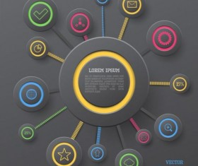 Gray style infographic template vector design 01