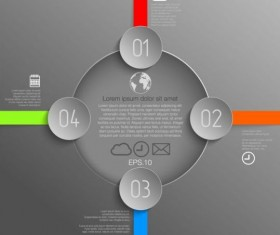 Gray style infographic template vector design 02