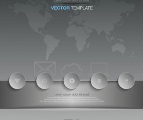 Gray style infographic template vector design 04