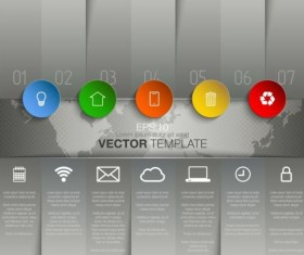 Gray style infographic template vector design 06