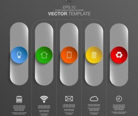 Gray style infographic template vector design 09