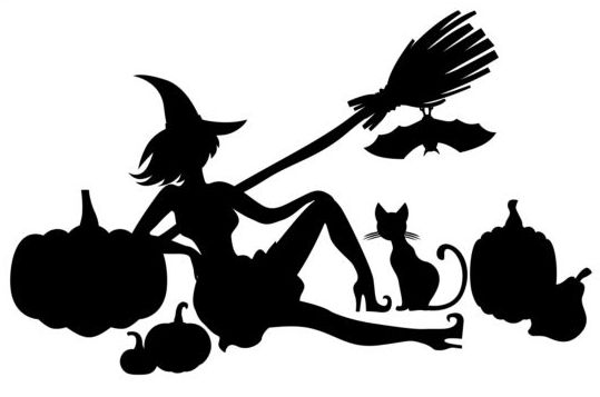 halloween witch with pumpkin silhouette vector free download rh freedesignfile com Scary Silhouette Halloween Tree Halloween Window Silhouettes Printable