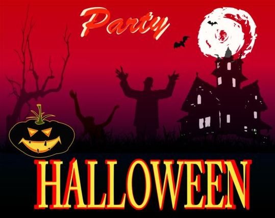 Halloween Zombles Party Creative Poster Vector Free Download