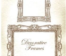 Hand drawn decorative frame vectors 01