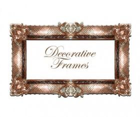 Hand drawn decorative frame vectors 02