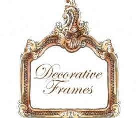Hand drawn decorative frame vectors 03