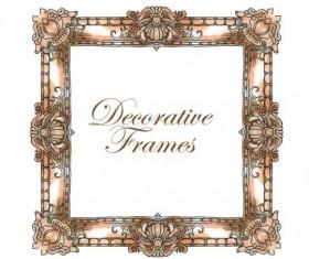 Hand drawn decorative frame vectors 04