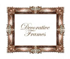 Hand drawn decorative frame vectors 05
