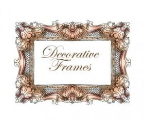 Hand drawn decorative frame vectors 06