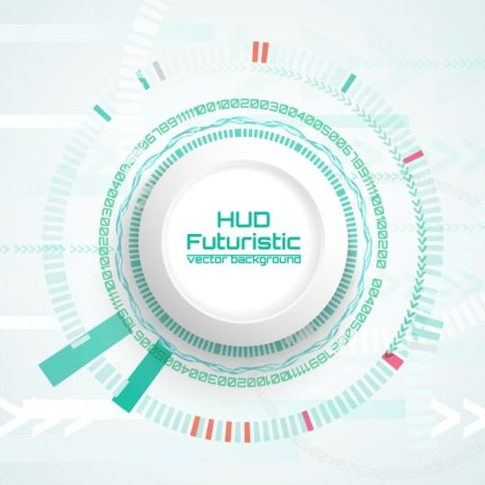 Hud futuristic tech background vector 04