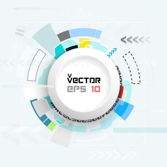 Hud futuristic tech background vector 16