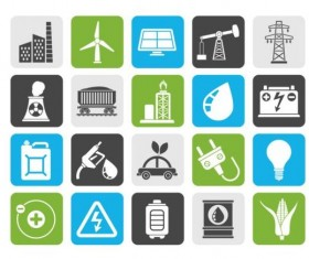 Industrial and power icons set