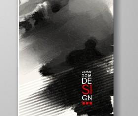 Ink paint cover brochures vector 01
